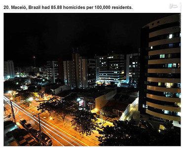مکزیکو،برزیل.    85.88 مورد قتل در هر صد هزار نفر جمعیت