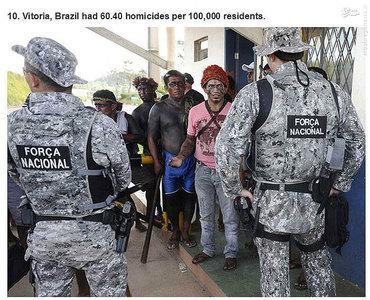 ویتوریا،برزیل.   60.40 مورد قتل در هر صد هزار نفر جمعیت