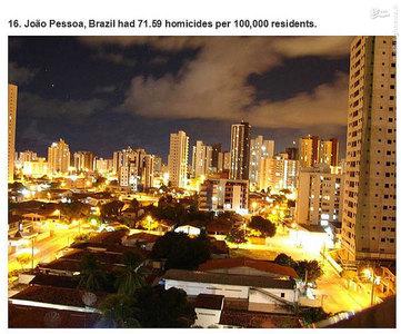 خوآ پسو،برزیل.    71.59 مورد قتل در هر صد هزار نفر جمعیت