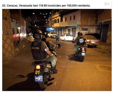 کاراکاس،ونزوئلا.    118.89 مورد قتل در هر صد هزار نفر جمعیت