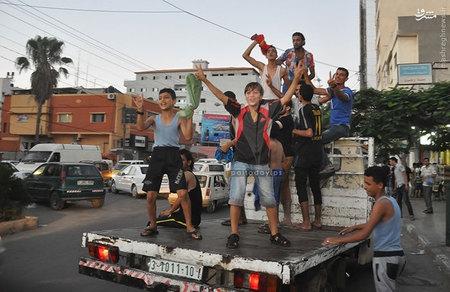غزه در شادی / تبریک مقاومت فلسطین به ایران/ مقایسه تعداد کشته های دو طرف