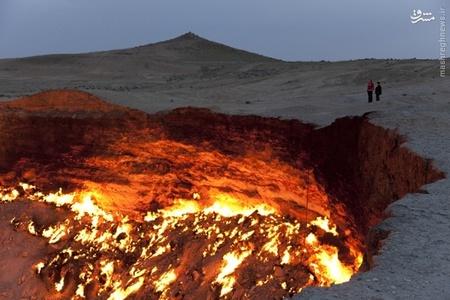 درب جهنم،گودالی از گاز است در صحرای کاراکوم ترکمنستان