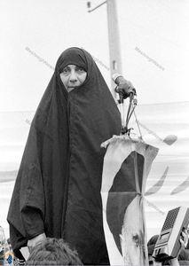 بانو رباب صدر؛ خواهر امام موسی صدر در سفر به ایران پس از انقلاب