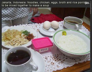 غذای بیمارستانی در جاکارتای اندونزی