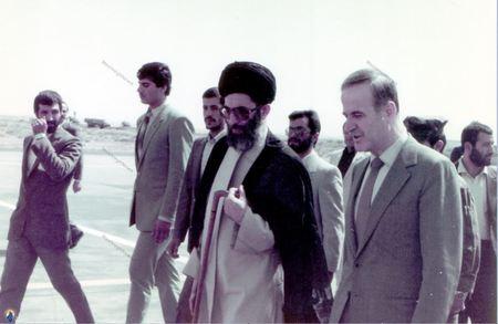 سفر آیت الله خامنه ای به کشور سوریه در شهریور 63