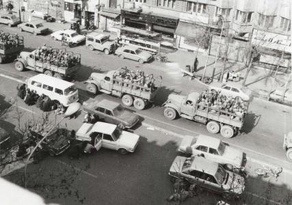 استقرار تدریجی زره پوش ها در میدان شهدا و خیابان مجاهدین اسلام