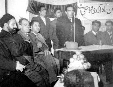 سخنرانی سید حسین فاطمی دریکی از محافل حزب زحمتکشان ملت ایرانbr /