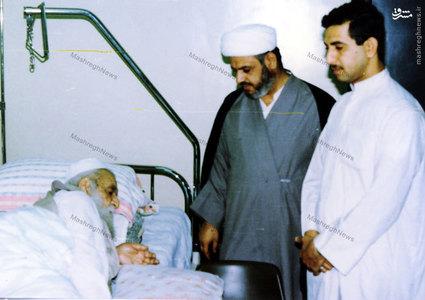 آیت الله العظمی سید ابوالقاسم خویی در دوران بستری در بیمارستان بغداد