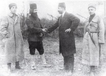 میرزا کوچک خان جنگلی در دیدار با احمد آذری نماینده دولت