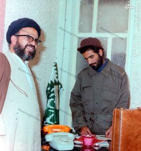 1358، آیت الله سید علی غیوری در دفتر امام خمینی در قم