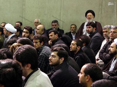 آیت الله سید علی غیوری در یکی از مجالس عزاداری فاطمیه در دفتر رهبر معظم انقلاب