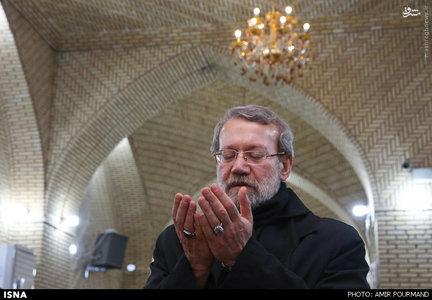 حضور لاریجانی در مسجد سهله - نجف