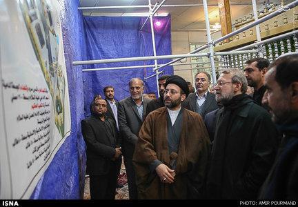 حضور رییس مجلس در آرامگاه شهید محراب محمد باقر حکیم