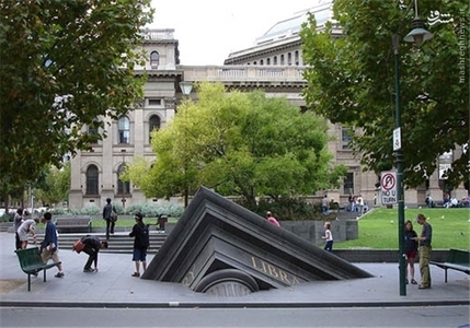ملبورن – استرالیا؛ غرق شدن کتابخانه