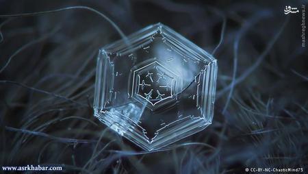 تحت این شرایط سفر کریستالهای برفی به سمت زمین آغاز میشود. اندازه آنها در ابتدا تنها ۱/ ۰ میلیمتر است و ششگوش هستند. این فرم ششگوش بر میگردد به ساختار کریستالی مولکولهای آب.
