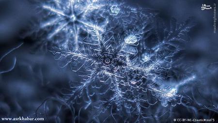 اما درخشش برفی که تازه آمده است، واقعی است. زیرا در این برف، دانههای برفی هنوز به صورت کامل بر روی هم قرار گرفتهاند. تیزی و نوک کریستالهای برفی همانند یک آینه کوچک، نور را منعکس میکند.