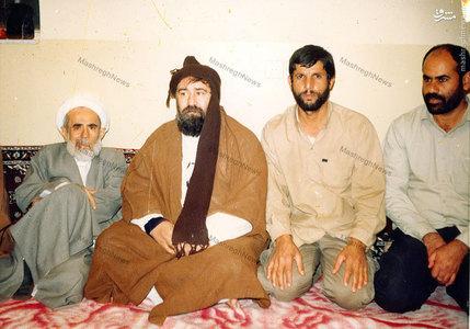آیت الله جمی در کنار مرحوم حاج سید احمد خمینی در آبادان