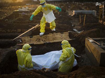 دفن قربانيان ابولا در سيرالئون