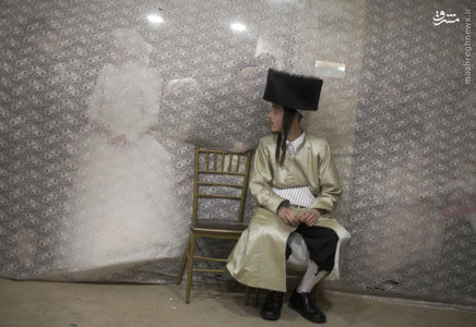 مراسم ازدواج زوج ارتدوكس افراطي در سرزمين هاي اشغالي