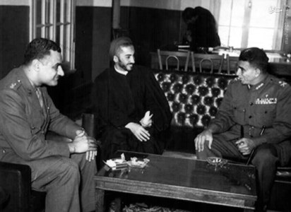 شهید نواب صفوی در دیدار با جمال عبدالناصر در قاهره