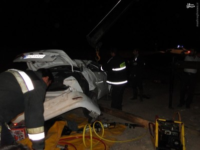 حوادث یزد تصادف وحشتناک در ایران تصادف مرگبار تصادف سمند اخبار یزد