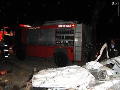 تصاویر/ تصادف وحشتناک در یزد