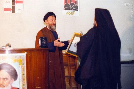 دیدار اسقف کاپوچی با آیت الله بهشتی در دفتر مرکزی حزب جمهوری اسلامی