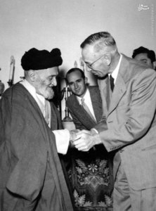 آیت الله سید ابوالقاسم کاشانی در دیدار با سفیر یکی از کشورهای اروپایی