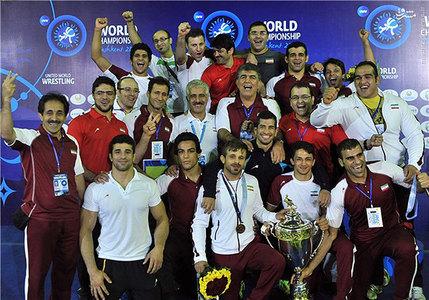 قهرمانی تیم ملی کشتی فرنگی ایران برای اولین بار در مسابقات جهانی