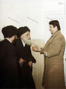 دکتر صادق طباطبایی در دیدار با آیت الله العظمی سیدعبدالله شیرازی در مشهد مقدس
