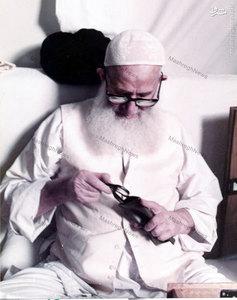 آیت الله العظمی سیدمحمدرضا گلپایگانی در منزل شخصی