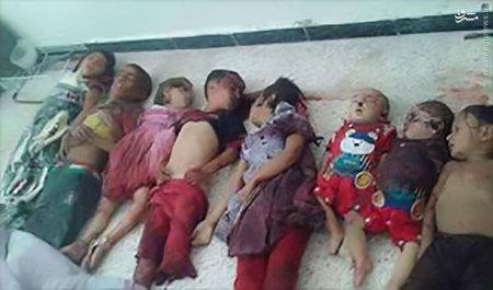 تصاویری هولناک از کشتار کودکان و زنان یمنی توسط آل سعود