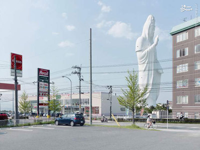 مجسمه دای کانون، 100 متر، ساخته شده در سال 1991، سندای ژاپن