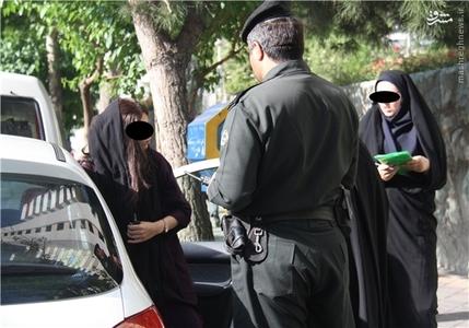کشف حجاب در تهران زنان بدحجاب دختر بی حجاب