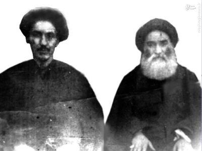 تصویری نادر از آیت الله العظمی میلانی در کنار آیت الله العظمی میرزا مهدی شیرازی در شهر مقدس کربلا