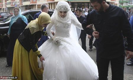 عکس عروس و داماد عکس عروس عروسی جالب رمضان قدیروف اردواج اجباری