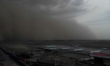 عکس/ طوفان شن در فرودگاه امام خمینی
