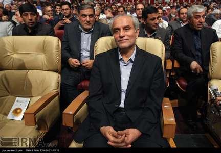 نصر الله سجادی معاون وزیر ورزش و جوانان در مراسم قرعه کشی لیگ برتر