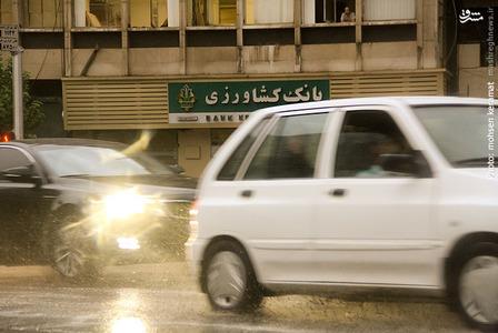 بارش باران و پاک شدن آسمان تهران از گرد و غبار