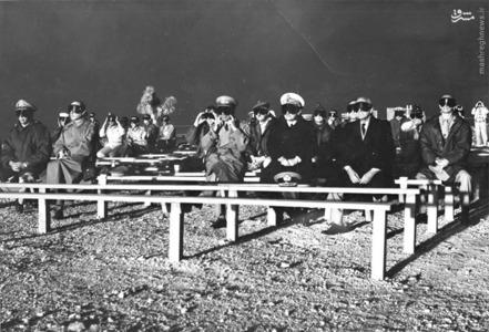 ناظران ناتو تماشاگر انفجار عملیات Plumbbob Boltzmann در May 28، 1957