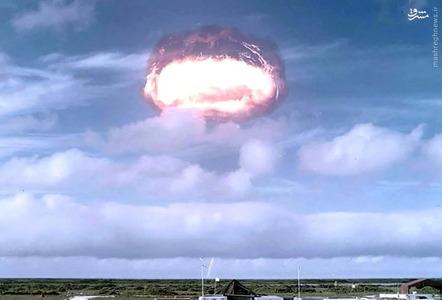 نمایی از آزمون آرکانزاس، بخشی از عملیات Dominic، یکی از بیش از 100 آزمایش هسته ای انجام شده در نوادا و اقیانوسیه در سال 1962.