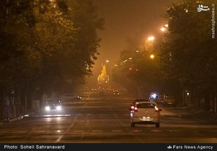 گرد و غبار شبانه در تهران