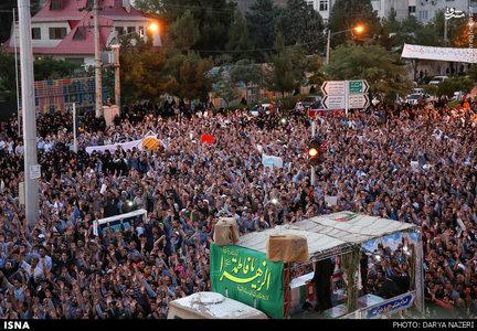شییع شهدای غواص و خط شکن کربلای 4 در مشهد مقدس