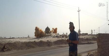 جدیدترین تصویر تخریب قبور توسط داعش