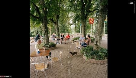 رستوران والدهایم در بوسینگِن، آلمان (2008) -  صاحب رستوران وقتی متوجه شد که محوطه بیرونی رستورانش بر روی مرز بین آلمان و سوئیس قرار گرفته است، تصمیم گرفت تا آن را با خط سفید مشخص کند. حالا مشتریها خودشان تصمیم میگیرند در کدام کشور غذا بخورند!