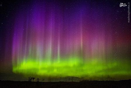 تصویر زیبای شفق قطبی