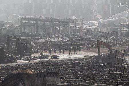 ادامه عملیات جستجو در محل انفجار مهیب استان «تیانجین» چین