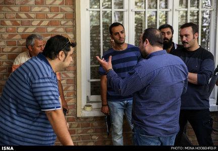 پشتصحنه مجموعه تلویزیونی پشت بام تهران