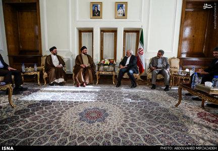عمار حکیم رئیس مجلس اعلای اسلامی عراق عصر امروز با محمد جواد ظریف وزیر امور خارجه دیدار و گفتگو کرد