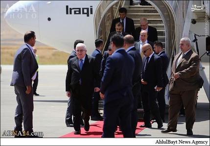 فواد معصوم به منظور نشست با طرفهای سیاسی کُردی با هدف حل و فصل بحران بر سر ریاست منطقه کردستان وارد سلیمانیه شد